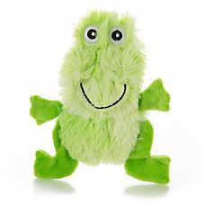 Top Paw™ Flattie Swirl Frog Dog Toy - Stuffing-Free, Crinkle
