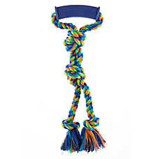 Top Paw® Rubber Handle Rope Tug Dog Toy