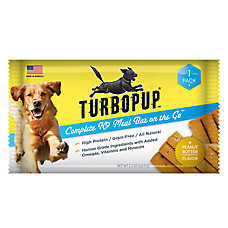 TurboPUP Meal Replacement Bar Dog Treat - Natural, Grain Free, Peanut Butter