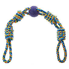 Top Paw® 4 Knot Rope Bone with Ball Dog Toy
