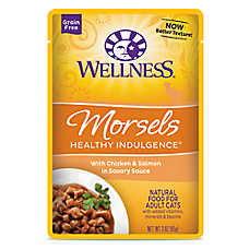 Wellness® Healthy Indulgence Morsels Adult Cat Food - Grain Free, Natural, Chicken & Salmon