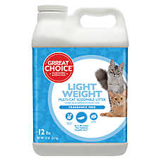 Grreat Choice® Lightweight Cat Litter - Scoopable, Multi-Cat, Fragrance Free
