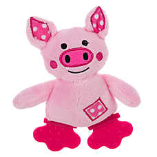 Top Paw™ Piggy Patch Teething Puppy Toy - Squeaker