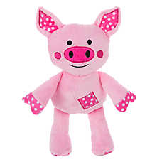 Top Paw™ Piggy Patch Puppy Toy - Plush, Squeaker