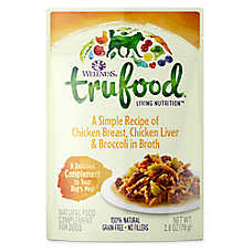 Wellness® TruFood® Compliments Dog Food - Natural, Grain Free, Chicken, Chicken Liver & Broccoli