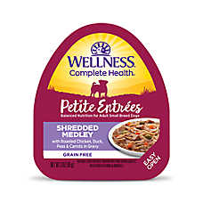 Wellness® Petite Entrees Small Dog Food - Grain Free, Roasted Chicken, Duck, Peas & Carrots