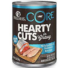 Wellness® CORE® Hearty Cuts Dog Food - Grain Free, Natural, Whitefish & Salmon