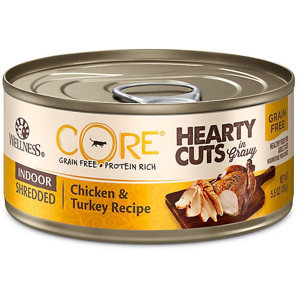 Wellness 174 Core 174 Hearty Cuts Indoor Adult Cat Food Grain