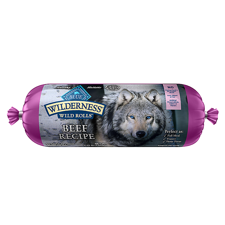Blue Buffalo A new way to roll - True BLUE Wilderness® Wild Rolls dog food.
