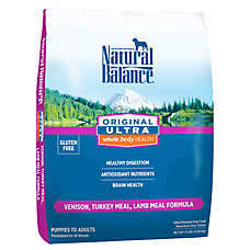 Natural Balance Original Ultra Whole Body Health Dog Food - Gluten Free, Venison, Turkey & Lamb Meal