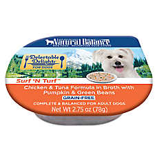 Natural Balance Delectable Delights Adult Dog Food - Grain Free, Surf 'N Turf