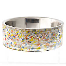 Top Paw® Steel & Glass Dog Bowl