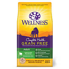 Wellness® Complete Health Adult Dog Food - Natural, Grain Free, Lamb & Lamb Meal