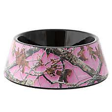 Top Paw® Pink Camo Dog Bowl