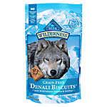 BLUE Wilderness® Denali Biscuits Dog Treat - Grain Free, Gluten Free, Salmon, Venison & Halibut