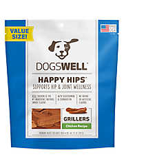 DOGSWELL® HAPPY HIPS® Dog Treat - Grain Free, Hip & Joint Health, Chicken Grillers
