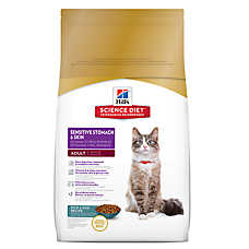Hill's® Science Diet® Sensitive Stomach & Skin Adult Cat Food - Rice & Egg