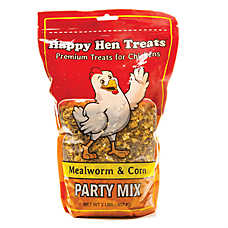 Happy Hen Treats Mealworm and Corn Party Mix Chicken Treats