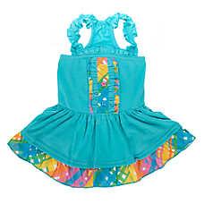 Top Paw™Rainbow Plaid Dress