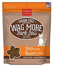 Cloud Star® Wag More Bark Less® Dog Treat - Grain Free, Peanut Butter & Apple