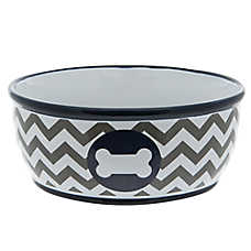 Top Paw® Chevron Bone Dog Bowl