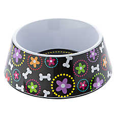Top Paw® Bone and Floral Dog Bowl
