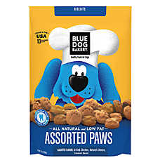 Blue Dog Bakery Assorted Paws - Natural, Chicken, Cheese & Bacon