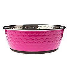 Top Paw® Embossed Steel Dog Bowl