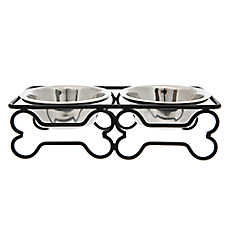 Top Paw® Steel Bone Dog Bowl