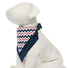 Top Paw® Canada Chevron Bandana Dog Collar