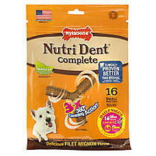 Nylabone® Nutri Dent Complete 3 Point Small Dog Dental Chew - Filet Mignon