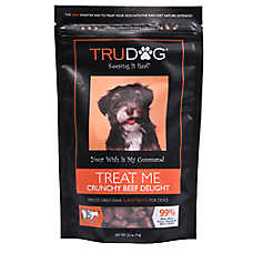 TruDog Treat Me Dog Treat - Freeze Dried, Raw, Natural, Crunchy Beef Delight