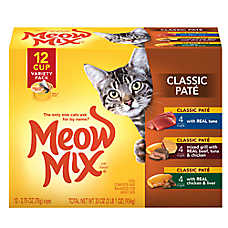Meow Mix® Classic Pate Cat Food - Variety Pack, 12ct