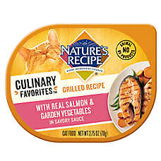 Nature's Recipe® Culinary Favorites Grilled Cat Food - Natural, Salmon & Vegetables