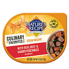 Nature's Recipe® Culinary Favorites Stew Cat Food - Beef & Vegetables