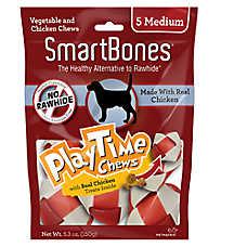 SmartBones® Play Time Chews Medium Dog Treat - Chicken
