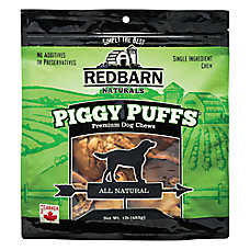 Redbarn Naturals Piggy Puffs Dog Treat - Pork
