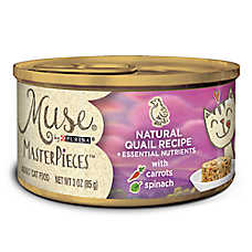 Muse® MasterPieces Adult Cat Food - Essential Nutrients, Natural Quail, Carrots & Spinach