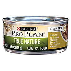 Purina® Pro Plan® True Nature Adult Cat Food - Grain Free, Natural,Turkey & Chicken