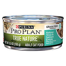 Purina® Pro Plan® True Nature Adult Cat Food - Grain Free, Natural, Trout & Salmon