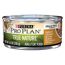 Purina® Pro Plan® True Nature Adult Cat Food - Grain Free, Natural, Chicken & Liver