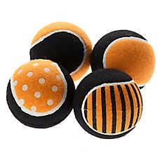 Thrills & Chills™ Pet Halloween 4-Pack Tennis Balls Dog Toy