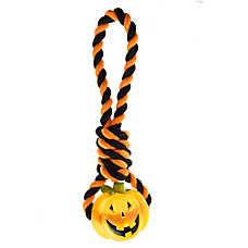 Thrills & Chills™ Pet Halloween Pumpkin Rope Dog Toy