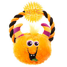 Thrills & Chills™ Pet Halloween Monster Mayhem Pumpkin Ball Dog Toy