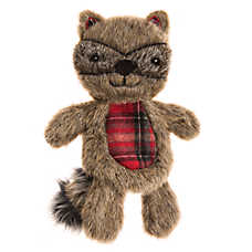 Top Paw® Flattie Racoon Dog Toy