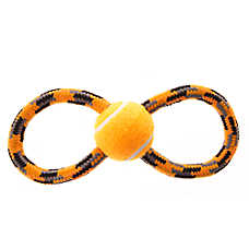 Top Paw® Figure 8 Rope Tug with Tennis Ball Dog Toy