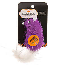 Thrills & Chills™ Pet Halloween Standing Mouse With Feather Cat Toy