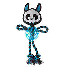 Thrills & Chills™ Pet Halloween Spiky Balll with Rope Dog Toy