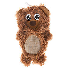 Top Paw® Flattie Sherpa Bear Dog Toy