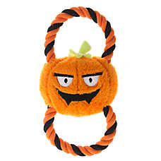 Thrills & Chills™ Pet Halloween Figure 8 Pumpkin Dog Toy